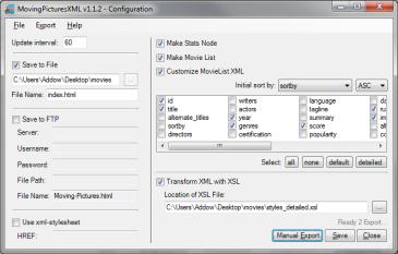 MovingPicturesXML full screenshot
